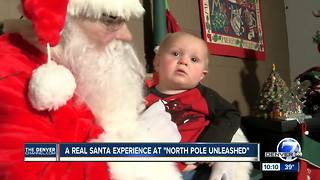 Kids who visit Santa at the North Pole Unleashed find he truly 'knows' - Video