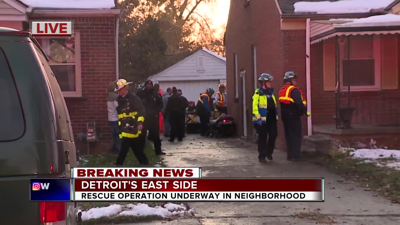 Rescue operation underway on Detroit's east side