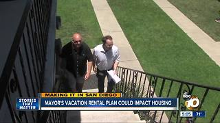 Mayor's vacation rental plan could impact housing - Video