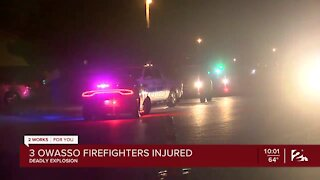 Man dead, 3 firefighters injured after explosion at Owasso home