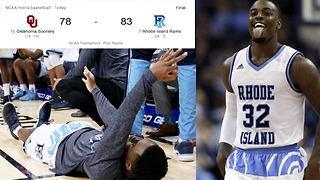 INSANE Back to Back Play Gives Rhode Island Bench a Heart Attack! | March Madness - Video