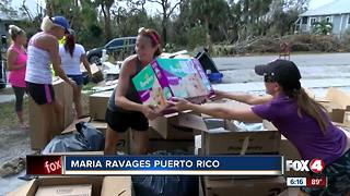 Marco Island group helping with hurricane relief supplies for Puerto Rico - Video