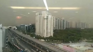 Timelapse Shows Dust Storm Envelop Towers in Northern India - Video