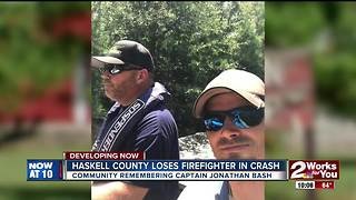 Haskell County firefighter killed in crash