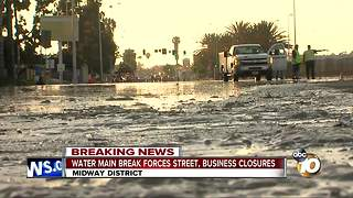 Midway Water Main Break - Video