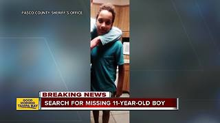 Detectives search for missing 11-year-old Holiday boy - Video