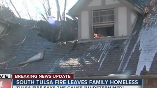 House fire leaves family homeless in South Tulsa - Video