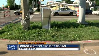 Construction on Capitol Drive set to begin, cause traffic - Video