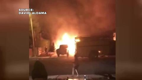 Video shows terrifying moments after explosion