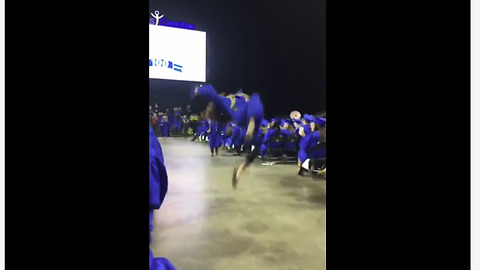 Graduation dance moves goes horribly wrong