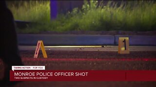 Officer shot while responding to alleged carjacking in Monroe