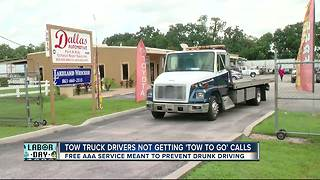 Lakeland tow truck drivers report zero calls for sober rides - Video