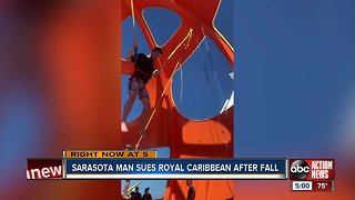 Sarasota man sues Royal Caribbean after falling from bungee attraction
