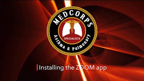 Installing zoom app for Medcorps telemedicine appointment