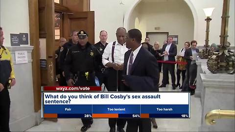 Bill Cosby taken to prison after judge denies bail; sentenced to 3 to 10 years