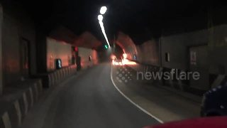Car fire in London tunnel causes massive traffic delays