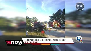 Good Samaritans help save a woman's life - Video