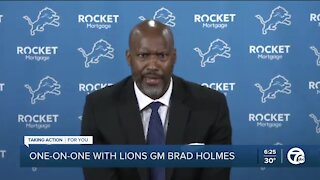 Lions GM Brad Holmes talks one-on-one with WXYZ's Brad Galli
