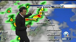 Sunday Night weathercast on WPTV Newschannel5 at 11 - Video
