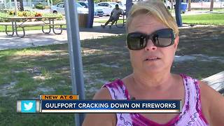 Gulfport Police crack down on backyard fireworks for 4th of July - Video