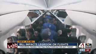 Bill that gives more legroom on planes passes