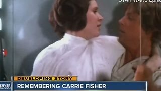Carrie Fisher is remembered in Denver through her many fans - Video