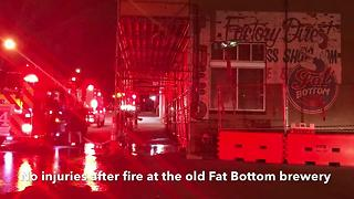 Fire Breaks Out At Former Nashville Brewery - Video