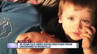 10-year-old saves brother from drowning in Roseville - Video