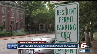 City to consider toughening parking penalties in neighborhoods with permit only parking - Video
