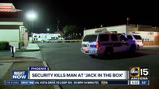 Man shot and killed by security guard in west Phoenix - Video