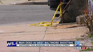 Man Dead in West Baltimore Shooting