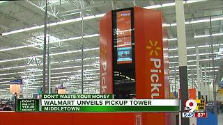 Walmart unveils pickup tower - Video