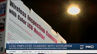 Former deputy charged with video voyeurism