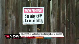 ShotSpotter technology alerts deputies to murder - Video