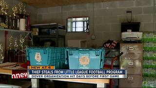 Thief steals from little league football program - Video
