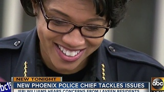 Phoenix Police Chief Jeri Williams holds 'Meet and Greet' event - Video