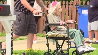 Drive-by parade held for Harford County woman turning 106