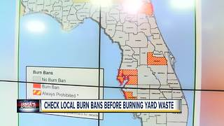 Check local burn bans before burning yard waste from Hurricane Irma - Video