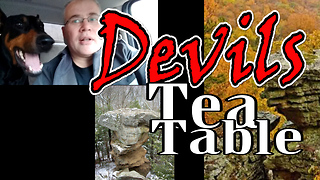 Exploring a Devils Tea Table with a Drone - Video
