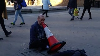 Is This the Worst Busker Ever?