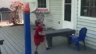 Adorable Kid Demonstrates Impressive Basketball Trick-Shot - Video