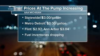 Gas prices up 11 cents in Michigan this week, AAA Michigan says