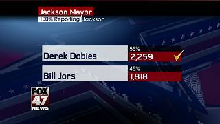 Derek Dobies wins race for Jackson Mayor - Video