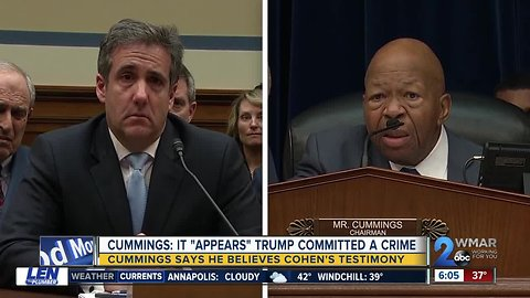 Cummings says he believes Cohen's testimony