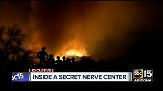 An exclusive look inside a secret communication center that is critical to frontline firefighters - Video