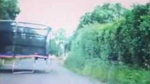 Unexpected Trampoline Challenges Driver's Skills
