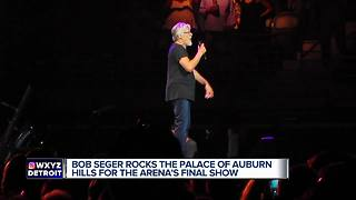 Bob Seger rocks the Palace for the arena's last show - Video