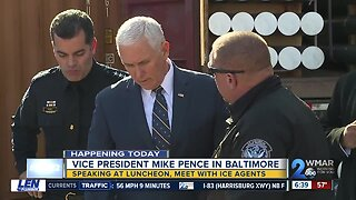 Vice President Mike Pence travels to Baltimore