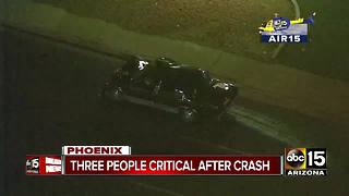 Three people hospitalized, including kid, after accident in Phoenix - Video