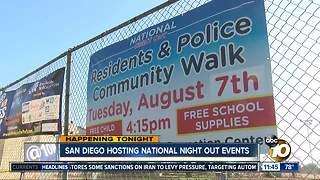 San Diego hosts National Night Out events - Video